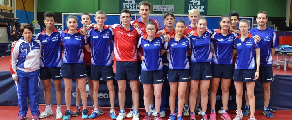 L'équipe de France Juniors au grand complet
