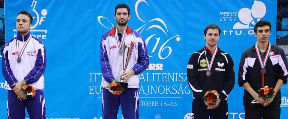 Emmanuel Lebesson, champion d'Europe, Simon Gauzy vice-champion © FFTT / Rémy Gros