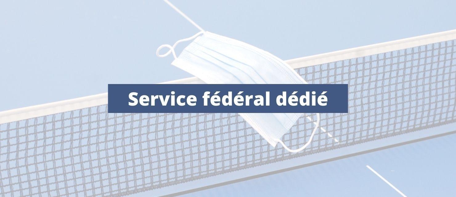 Le plan de relance pour le service fédéral dédié